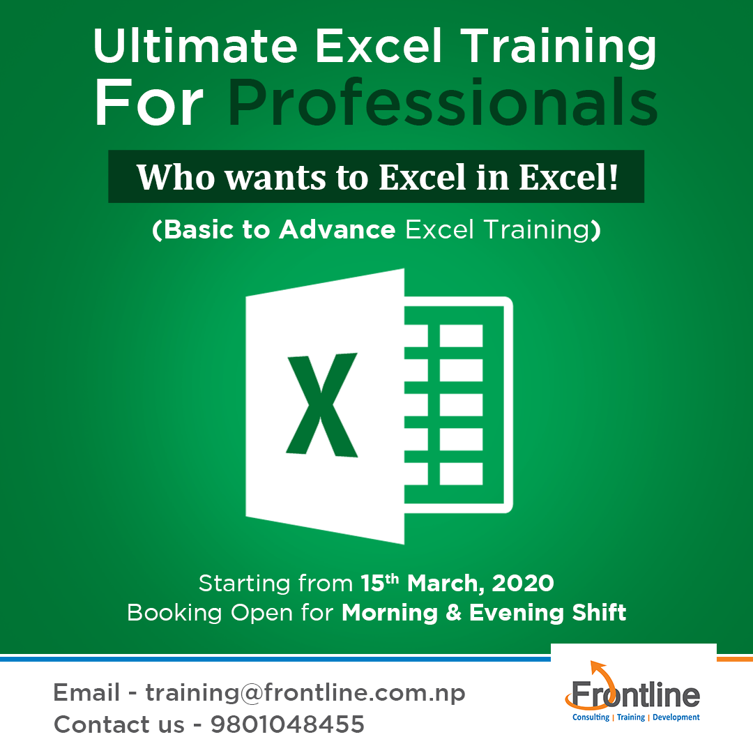 Ultimate Excel Training For Professionals